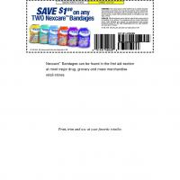 Printable Nexcare Save $1 on Any Purchase of 2 Bandages - Printable Grocery Coupons - Free Printable Coupons