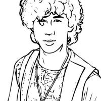 Printable Nick Jonas - Printable Coloring Sheets - Free Printable Coloring Pages