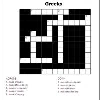 Printable Nine Muses Of The Greeks - Printable Crosswords - Free Printable Games