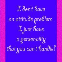 No Attitude Problem Quote