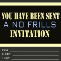 Printable No Frills Party Invitation - Printable Party Invitation Cards - Free Printable Invitations