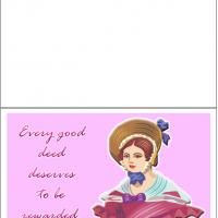 Printable No Good Deeds Goes Unpunished - Printable Thank You Cards - Free Printable Cards