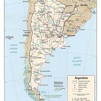 Printable South America- Argentina General Reference Map - Printable Maps - Misc Printables