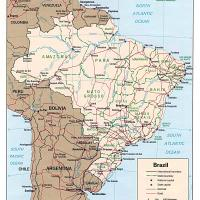 Printable South America- Brazil Political Map - Printable Maps - Misc Printables
