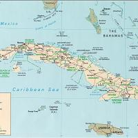 North America- Cuba General Reference Map