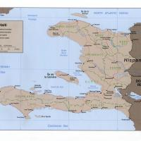 North America- Haiti Political Map