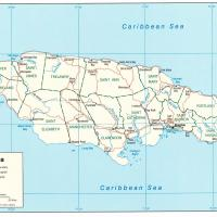 North America- Jamaica Political Map