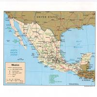 North America- Mexico Political Map