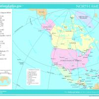 Printable North America General Reference Map - Printable Maps - Misc Printables