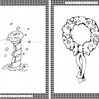 North Pole and Wreath Flash Cards