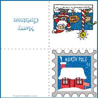 Printable North Pole Stamp - Printable Christmas Cards - Free Printable Cards