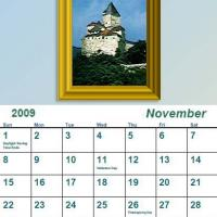 Printable November 2009 Oil Painting Calendar - Printable Monthly Calendars - Free Printable Calendars
