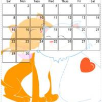Printable November 2009 Sweet Cats Calendar - Printable Monthly Calendars - Free Printable Calendars