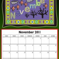 November 2011 Colorful Designed Calendar