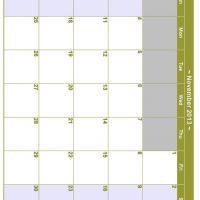November 2013 Planner Calendar