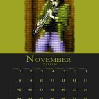 November Music Theme Calendar