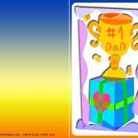 Printable Number 1 Dad Trophy - Printable Fathers Day Cards - Free Printable Cards