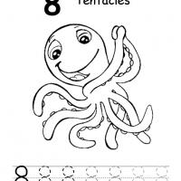 Printable Number Eight - Free Printable Math Worksheets - Free Printable Worksheets