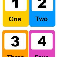 Printable Number Flash Card 1-4 - Printable Preschool Worksheets - Free Printable Worksheets