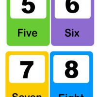 Printable Number Flash Card 5-8 - Printable Preschool Worksheets - Free Printable Worksheets