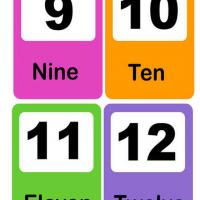Number Flash Card 9-12