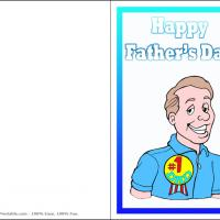 Printable Number One Dad Ribbon - Printable Fathers Day Cards - Free Printable Cards