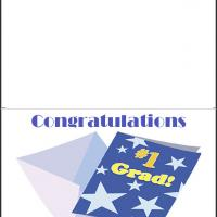 Printable Number One Graduate - Printable Graduation Cards - Free Printable Cards