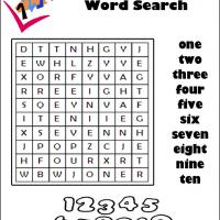 Numbers 1 To 10 Word Search
