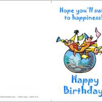 Printable O-Fish-Al Birthday - Printable Birthday Cards - Free Printable Cards