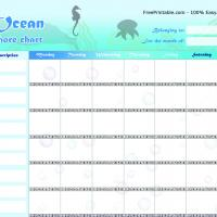 Ocean Chore Chart