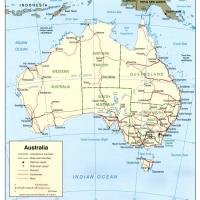 Oceania- Australia Political Map