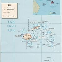 Oceania- Fiji Political Map
