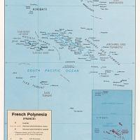 Oceania- French Polynesia Political Map
