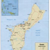 Oceania- Guam Political Map
