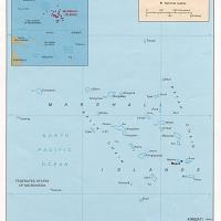 Oceania- Marshall Islands Political Map