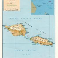 Oceania- Samoa Political Map