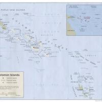 Oceania- Solomon Islands Political Map