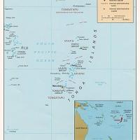 Oceania- Tonga Political Map