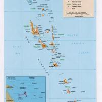 Oceania- Vanuatu Political Map
