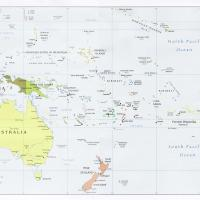 Printable Oceania Political Map - Printable Maps - Misc Printables