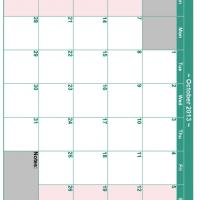 October 2013 Planner Calendar