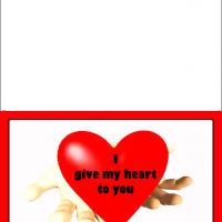 Printable Offering Heart - Printable Valentines - Free Printable Cards