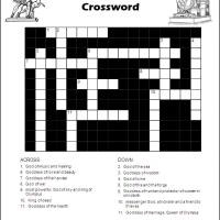 Olympian Gods & Goddesses Crossword