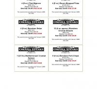 Omaha Steaks Various Discount Coupons