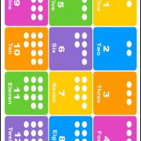 One to Twelve Number Dots
