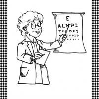 Printable Optometrist Flash Card - Printable Flash Cards - Free Printable Lessons