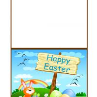 Printable Orange Bunny Easter Card - Printable Easter Cards - Free Printable Cards
