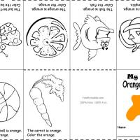 Printable Orange Color Recognition - Printable Preschool Worksheets - Free Printable Worksheets