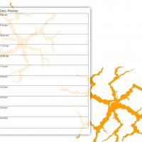 Orange Cracks Daily Planner