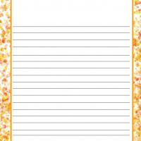 Orange Dots Stationery